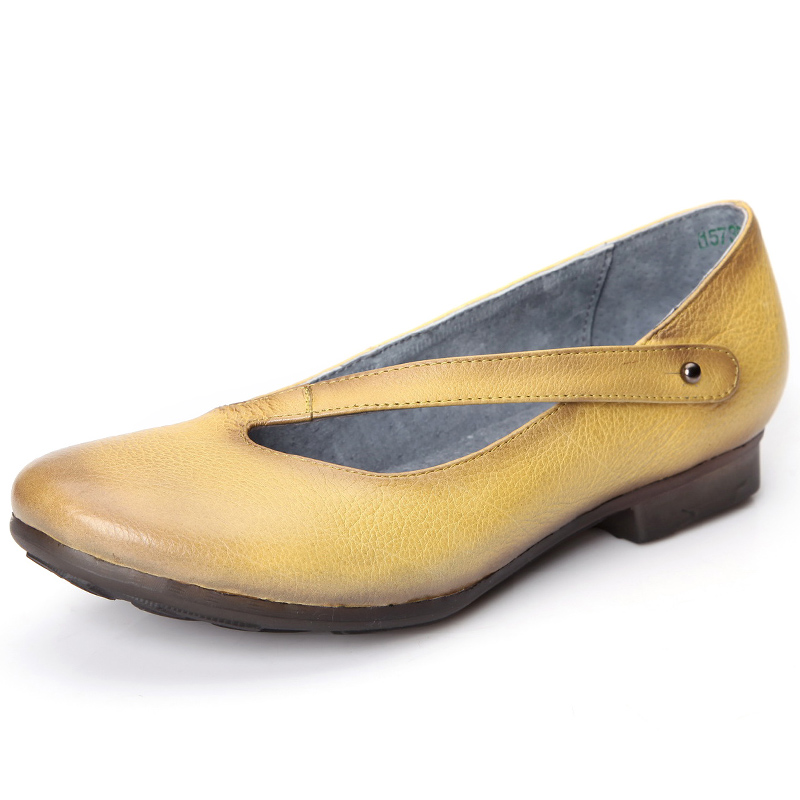 ФОТО Fashion yellow / light blue flats womens summer shoes genuine leather Sandals comfortable woman outdoor casual shoes