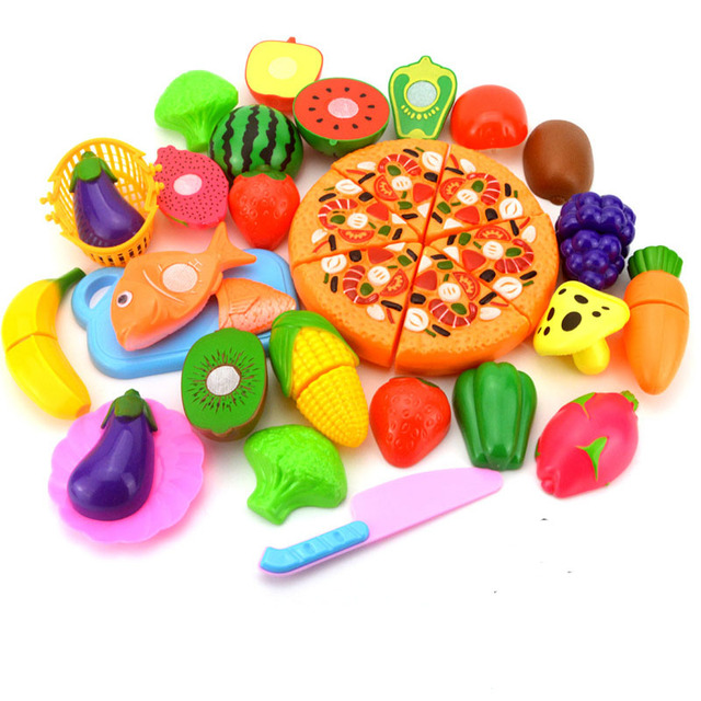 Plastic Toy Food : Pcs set plastic miniature kitchen toy pizza vegetable