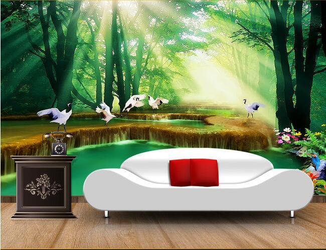 ⑧3d behang custom muurschildering non woven 3d kamer behang hemel