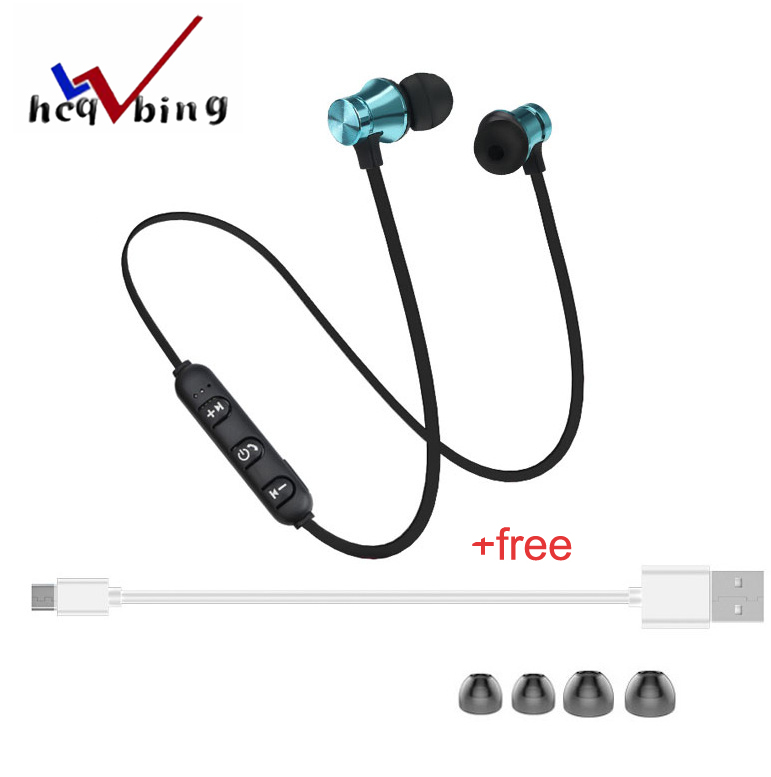 HCQWBING Stereo Bluetooth Earphone With HD Mic Wireless Headphone Sport Headset Earbuds For iphone 8 X Android Earpods Airpods zomoea bass earphone earbuds running stereo sport wireless bluetooth 4 2 headset wireless headphone for iphone android with mic