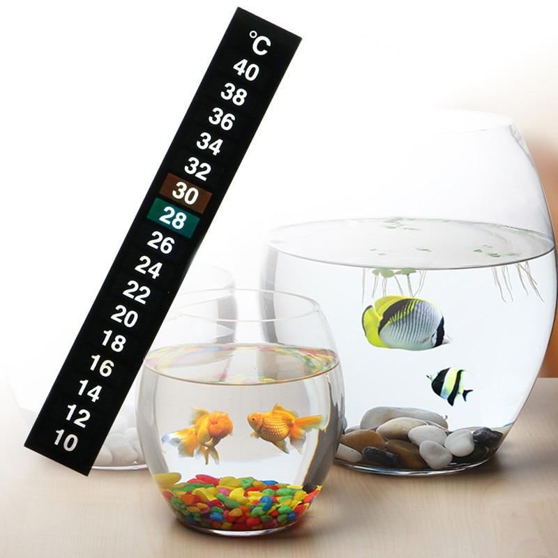 1pc/5pcs/10pcs Digital Aquarium Fish Tank Thermometer Temperature Sticker Digital Scale Stick-On