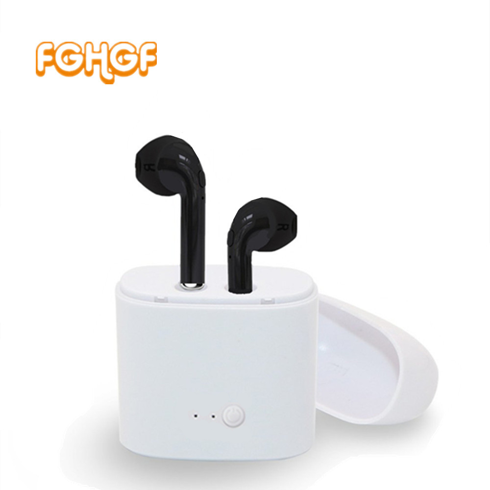 TWS I7 TWS i7S Earbuds Ture Wireless Bluetooth Double Earphones Twins Earpieces Stereo Music Headset For ios for iphone 6 7 8 remax bluetooth v4 1 wireless stereo foldable handsfree music earphone for iphone 7 8 samsung galaxy rb 200hb