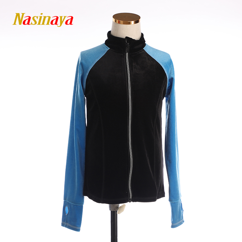 Customized Figure Skating Jacket Zippered Tops for Boy Men Training Competition Patinaje Ice Skating Warm Velvet
