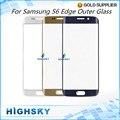 1 Unidades Envío Gratis Para SM-G925 G925 Reemplazo LCD Táctil panel de la pantalla para samsung galaxy s6 edge frente lente exterior de cristal