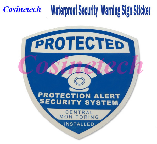 5 PCS Decals Waterproof alarm Sticker Warning Sign Security Surveillance CCTV camera DVR Anti theft alarm