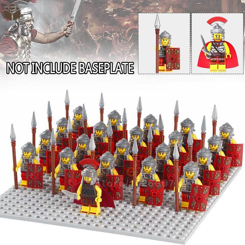 21Pcs/Set Roman Military  Soldiers Mini Figures Army Toys Collection Kids Gifts