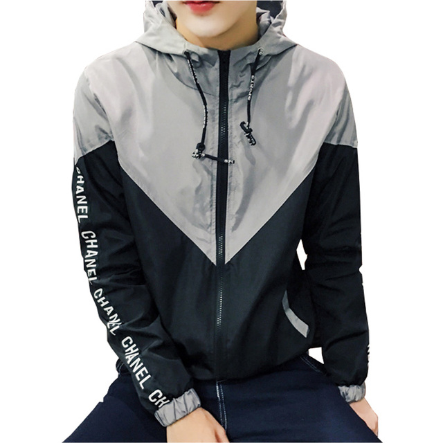 Large Size 4XL 5XL Fashion Men Jacket 2017 Autumn New Trend Patchwork Hooded Jackets Men Casual Outwear Thin Windbreaker