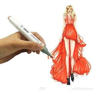 Image 4 - Professional Art Markersเคล็ดลับTOUCHNEW 30/40/60/80/168สีภาพวาด/ภาพวาดมังงะเครื่องหมายแอลกอฮอล์ฐานปากกาMarker
