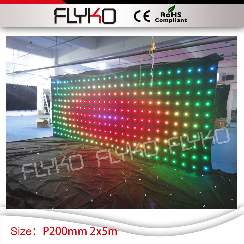 P20 wedding club led screen 2m*5m dj equipment RGB full color video display led curtain|club led|dj equipment|led video curtain - title=