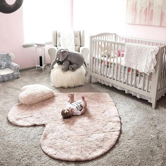 Скандинавский детский игровой коврик Tapete Infantil хлопковый игровой коврик плед для новорожденного меховой коврик для фотосъемки фон для декора комнаты 120 см