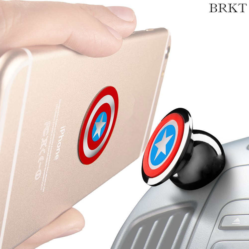 Captain America car phone holder stent 360 degrees Magnetic Phone Car GPS Holder for iPhone for Samsung For xiaomi huawei phones