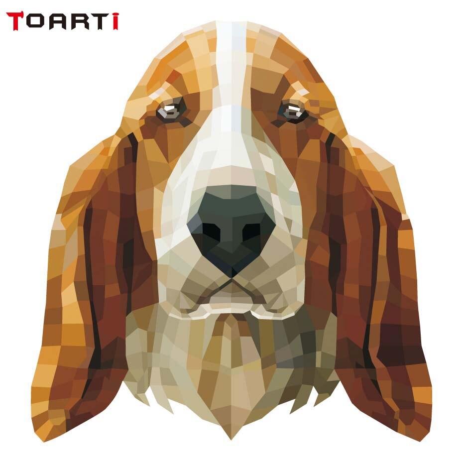 Dog Head Geometry Vinyl Sticker On Car Styling Waterproof Animal Decals Motor Car Goods Accessories Auto Motor Bumper Stickers