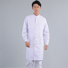 Male doctor wears long-sleeved white gown and plastic surgeon uniform oral dental work experiment classic