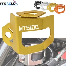 For Ducati MTS1100 MTS 1100 S Multistrada CNC Motorcycle Aluminum Alloy Rear Brake Fluid Tank Reservoir Guard Cover Protect цена и фото