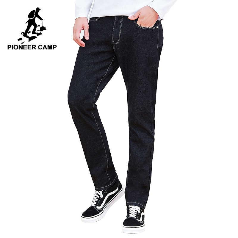 Пионерский лагерь Новые черные джинсы брендовая мужская одежда твердые прямые джинсы мужской наивысшего качества стрейч джинсовые штаны ANZ803160