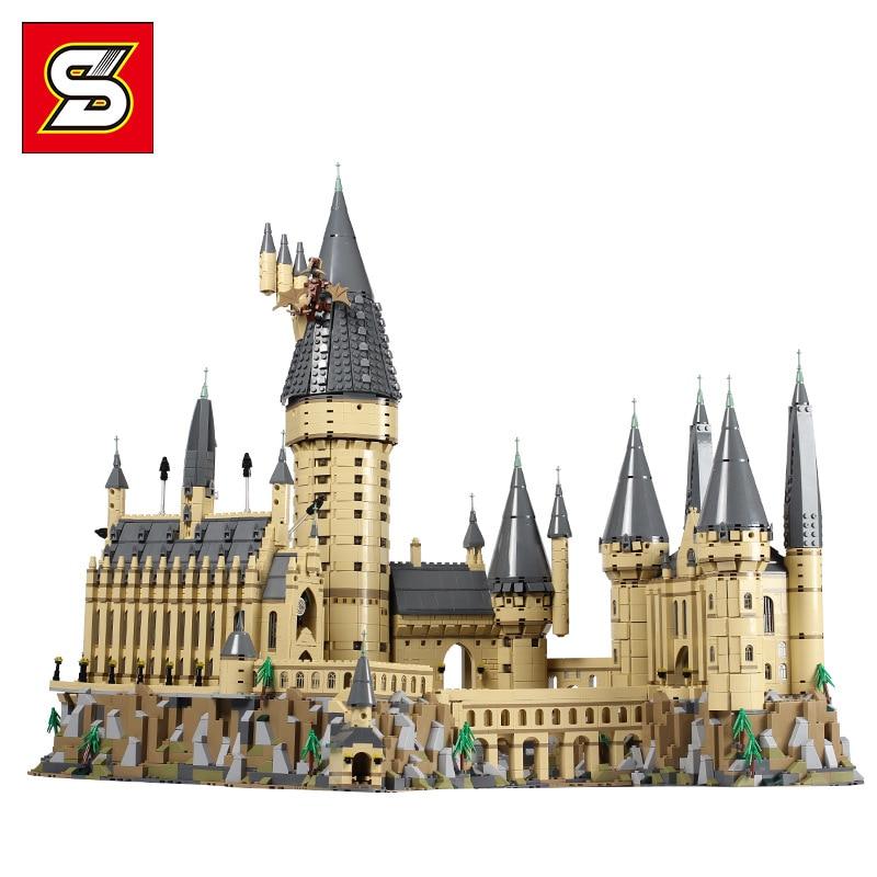 S1192 6020 Pcs Harry Movie Potter Series The 71043 Hogwarts Castle Building Blocks Bricks Kids Toys House Model Christmas Gifts