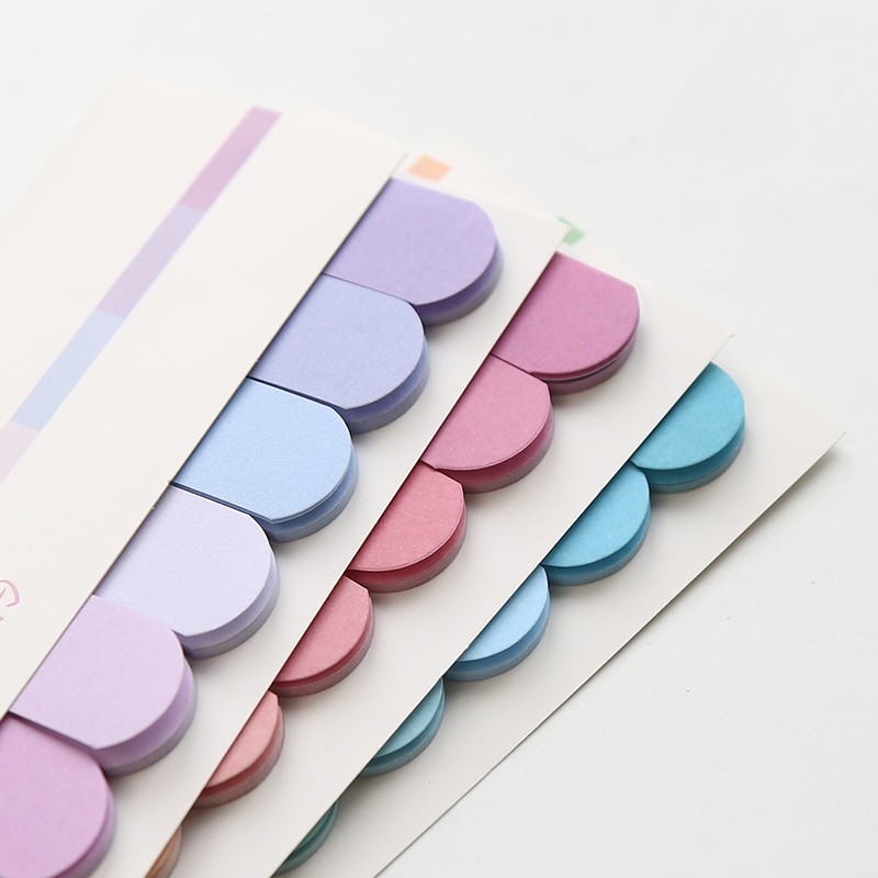 4 pcs Fresh rainbow color sticky note Mini index lable bookmark Post memo Stationery Office accessories School supplies A6966 Multan