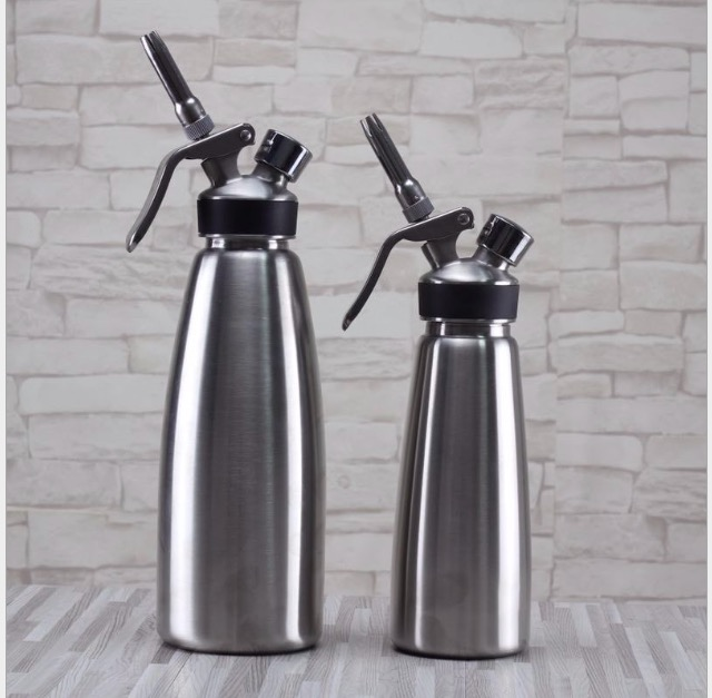 316 stainless steel 1000ML whipped cream dispenser /stainless steel cream whipper /professional milk frother tool
