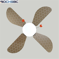 BOCHSBC Cartoon Wooden art Ceiling Fan Lights For Children's Room Simple Style Fan Lamp Bee Fan Lights Children's Fan Lights
