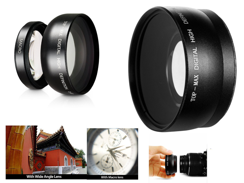 55mm Macro Wide Angle Lens 0.45X HD for Sony DSLR A230 A350 A300 A330