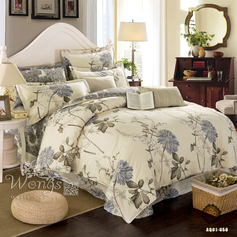 100 cotton countryside Style 3 Pcs Floral Printing Bedding Set Cotton Duvet Cover Romantic Pillowcase Set Bedclothes in Bedding Sets from Home Garden
