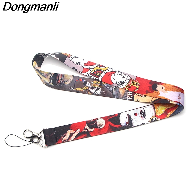 P3376 Dongmanli Freddie Mercury Keychain Lanyards Id Badge Holder ID Card Pass Gym Mobile Phone USB Badge Holder Key Strap