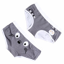 Cartoon Funny Couples Underwear Set Low Rise Boxer Homens Cotton