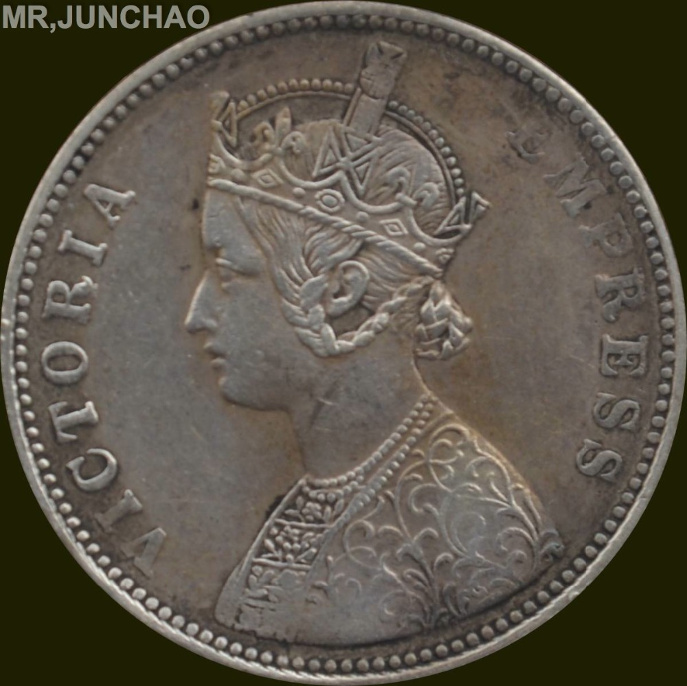 India Coins Victoria Empress One Rupee 1893 90 Silver
