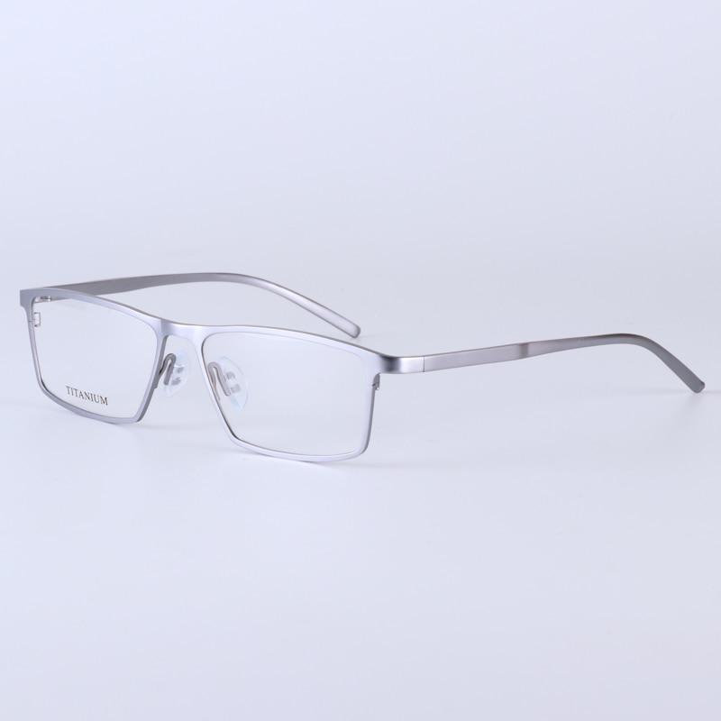 JIE.B zīmola brilles rāmis vīrieši sievietes Retro Pure titāna - Apģērba piederumi - Foto 2