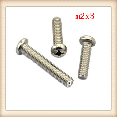50pcs 304stainless steel phillips <font><b>m2</b></font>*3 <font><b>screw</b></font> image