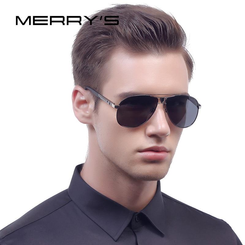 MERRY'S 2016 Classic Brand Sunglasses Men HD Polarized Aluminum Sun <font><b>glasses</b></font> Luxury Shades Shield <font><b>Series</b></font> UV400 S'8086