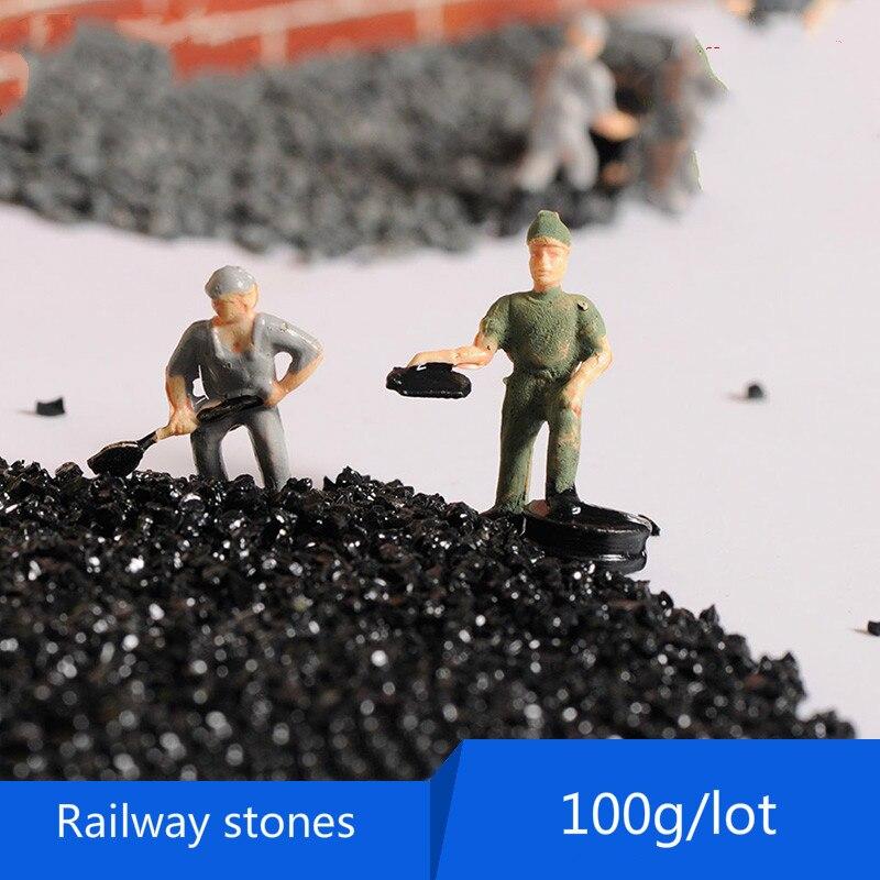 100g/lot architecture model stone sand pebbles landscape model train materials goose river sand foundation for railway ballast ...