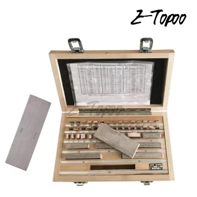 High Precision 1.005-50mm Block Gauge 32Pcs/Set 1 grade 0 grade Inpsection Block gauge set Measurement Caliper Tool Set