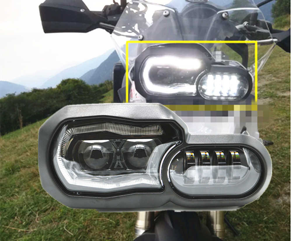 Motorcycle Accessories LED Auxiliary Fog Light Assemblie Driving Lamp Cover Headlight For BMW R1200GS/ADV/F800GS/F700GS/F650FS front head light driving aux lights fog lamp assembly for bmw r1200gs lc adv f800 f750 f650 r1150 gs motorcycle accessories