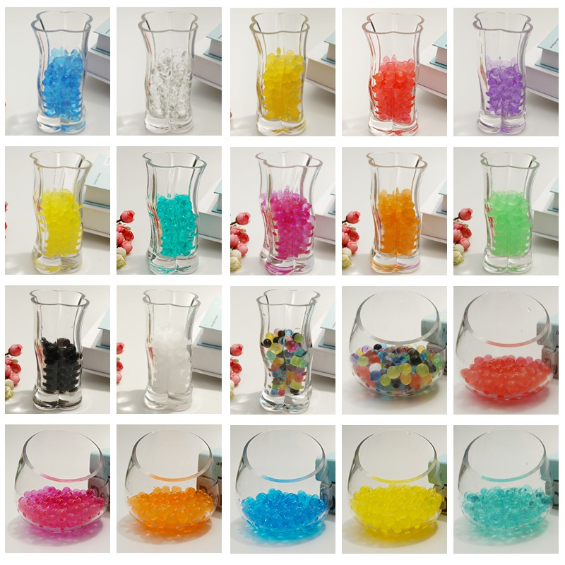 10000 Pcs /lot Children Water Beads Pearl Shaped  Magic Jelly Grow Ball Hydrogel Bullet Mud Grow Paintball Gun Bead