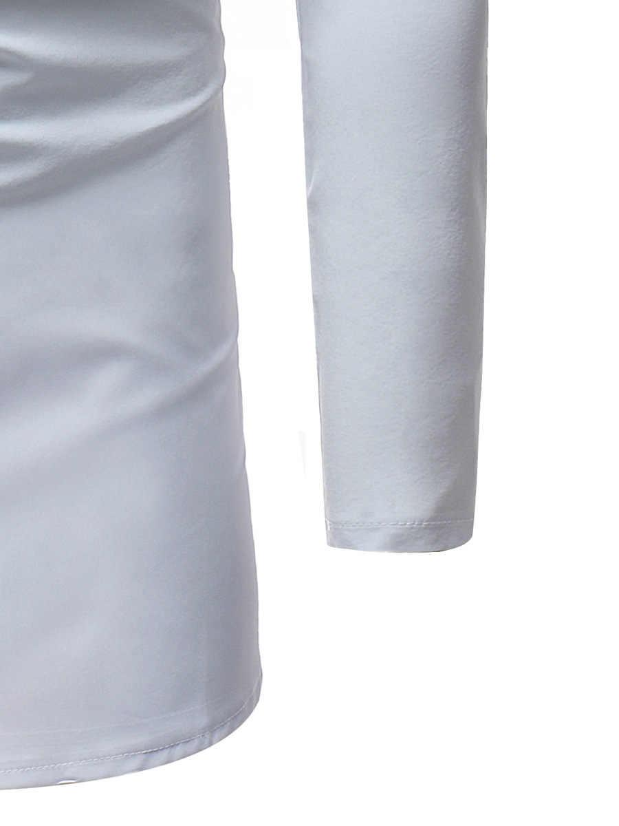 Art und weise Striped Print Shirt Männer 2017 Marke New African Dashiki Kleid Shirt Herren Langarm-shirts Weiß Afrika Bekleidung Camisa
