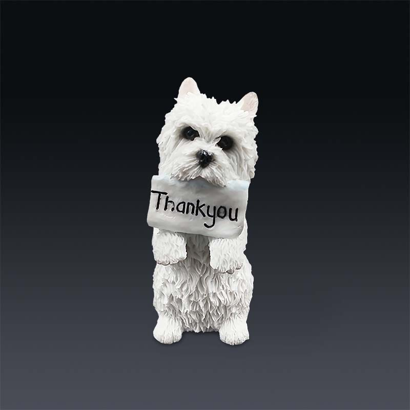 Mnotht Mini Animal Toy 1/6 West Highland Terrier Standure Posure - Խաղային արձանիկներ - Լուսանկար 2