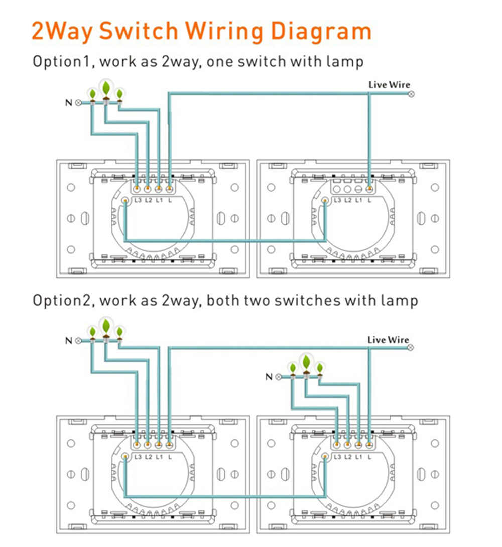Bingoelec Gold Crystal Toughened Panel 1gang 2way Touch Switch2way One Light Two Switches Wiring Diagram Please Leave A Message If You Use Led Less Than 3 W We Will Send Adapter Free