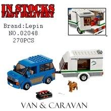 New Lepin 02048 270Pcs City Traffic Vehicles Van Caravan Camping Building Blocks Set 60117 Bricks font