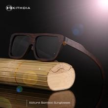 KITHDIA نظارة شمسية خشبية الرجال العلامة التجارية مصمم الاستقطاب القيادة الخيزران النظارات الشمسية إطارات النظارات الخشبية Oculos دي سول Feminino
