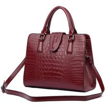 BVLRIGA Luxury Handbags Women Bags Designer Crocodile Genuine Leather Bag Women Shoulder Bag Female crossbody messenger bag Lady