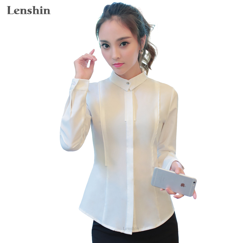c82408ce19e Women Slim Female Black Shirt Spring Wear Casual Style Lady Tops Long  Sleeve Blouse-in Blouses   Shirts from Women s Clothing on Aliexpress.com