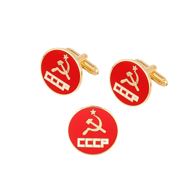 Cccp Red Star Symbol Pin And Cufflinks Set In Pins Badges From