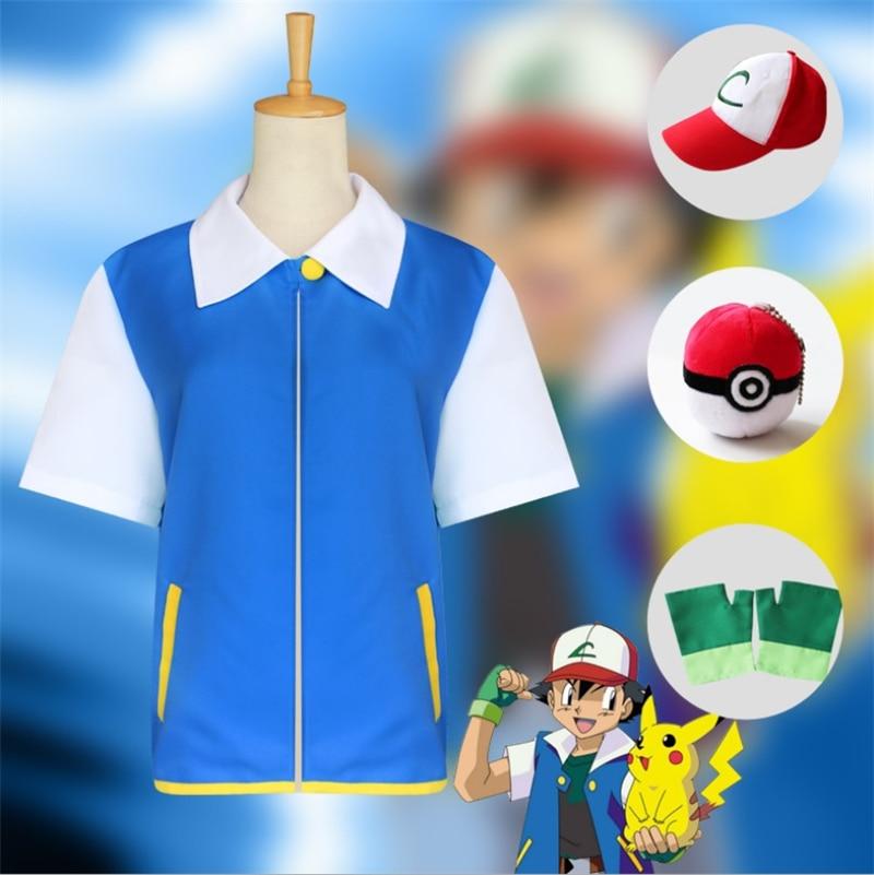 childhood-memory-font-b-pokemon-b-font-ash-cosplay-costume-set-kids-adult-cartoon-carnival-performance-halloween-party-wholesale-free-shipping
