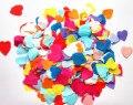 25 мм 3000 шт. Многоцветный оберточной бумаги блеск сердце любовь конфетти свадьбы день рождения украшение стола pinata наполнители