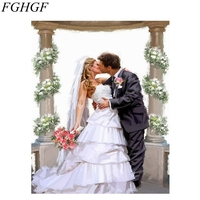 FGHGF Framed Romantic Kiss Lover DIY Painting By Numbers Landscape Acrylic Picture Wall Art Hand Painted