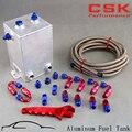 3л Рисование полировка топливного всплеска бак 3 литров вихревой горшок система + гаечный ключ черный/синий