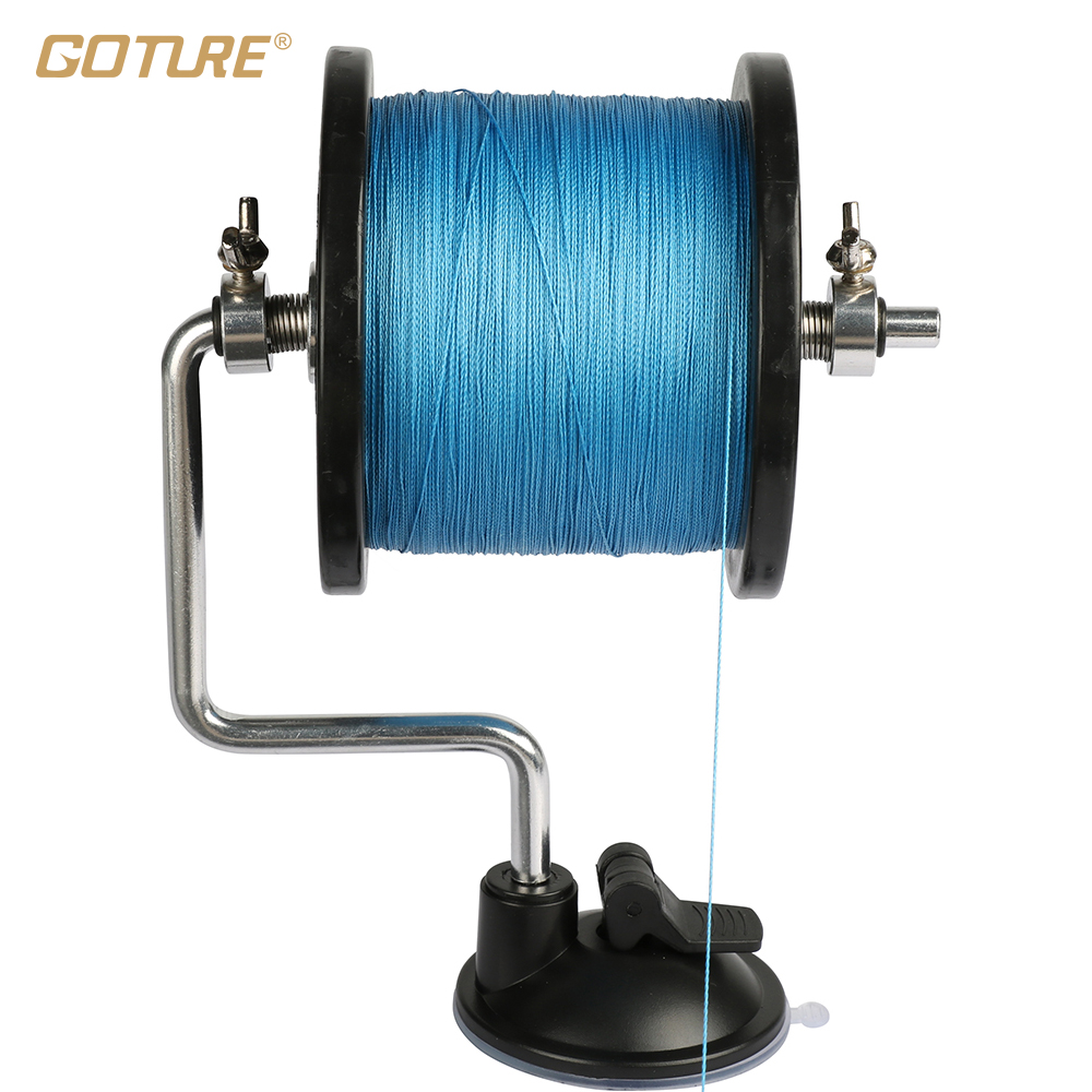 Goture fishing line reel spool spooler system tackle for Fishing line on reel