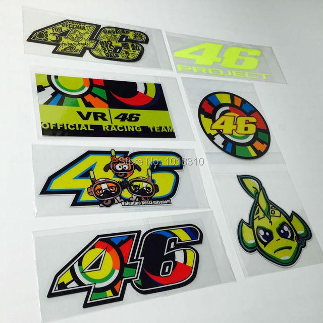 7 styles motogp motor racing sticker decals for rossi misano shark sun moon vr46 car motor