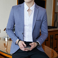 Striped Blazer Mens Slim Fit Blazer Slim Masculino Business Casual Mens Stylish Blazer Spring Autumn Dot  Striped Blazers Mens